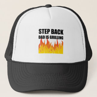Step Back Dad Grilling Trucker Hat
