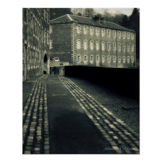 Step Back in Time - Streets of New Lanark Poster