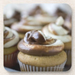 Step by step photos of peanut butter cupcakes beverage coaster