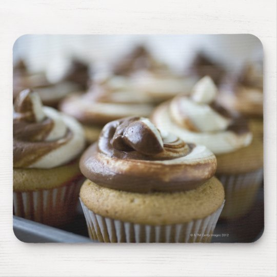 Step by step photos of peanut butter cupcakes mouse pad