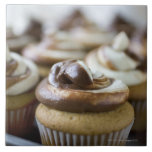 Step by step photos of peanut butter cupcakes tile