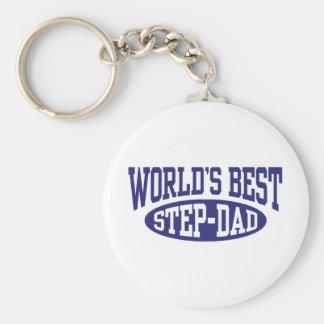 Step Dad Basic Round Button Keychain