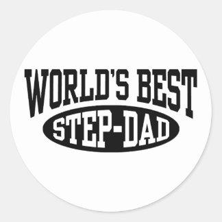 Step Dad Classic Round Sticker