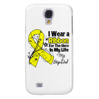 Step-Dad Hero in My Life Sarcoma Awareness Samsung Galaxy S4 Cases