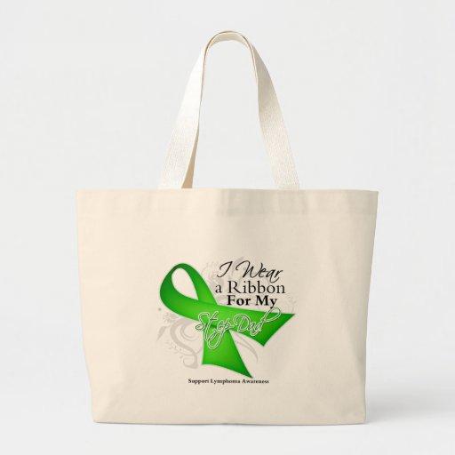 Step-Dad Lime Green Ribbon - Lymphoma Jumbo Tote Bag