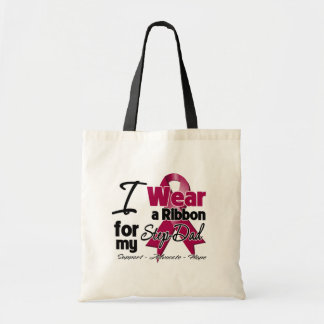 Step-Dad - Multiple Myeloma Ribbon Tote Bags