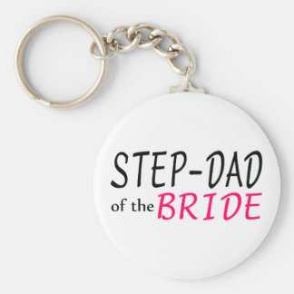 Step Dad Of The Bride Keychain