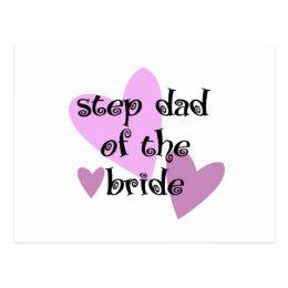 Step Dad of the Bride Postcard