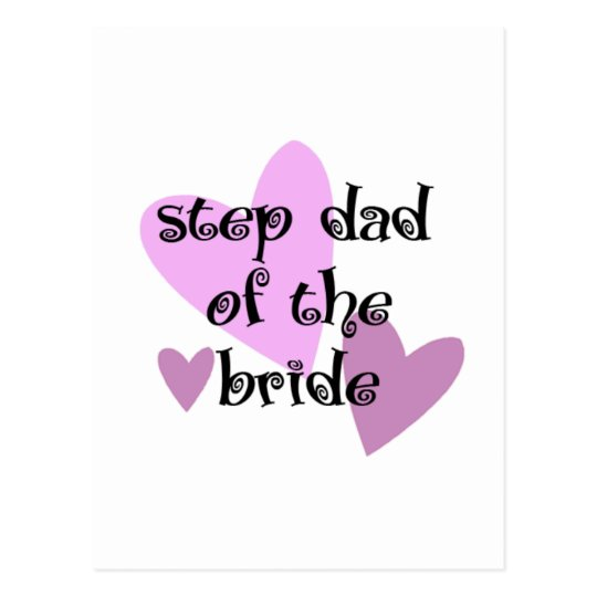 Step Dad of the Bride Postcard