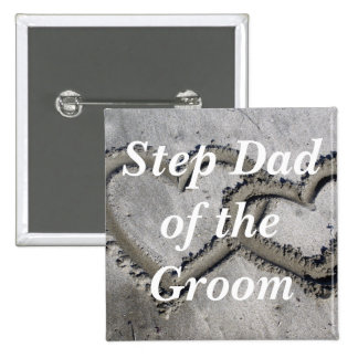 Step Dad Of The Groom Pinback Buttons