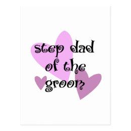 Step Dad of the Groom Postcard