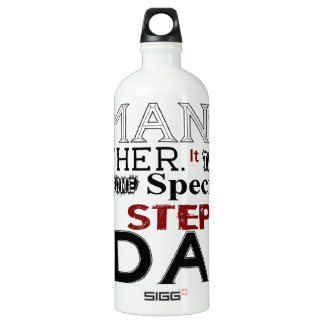 Step Dad Quote Fathers Day Aluminum Water Bottle