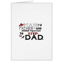Step Dad Quote Fathers Day Card