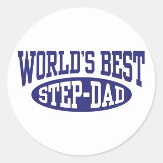 Step Dad Round Stickers