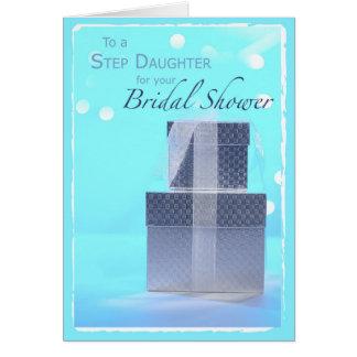 Wedding Shower Gift Daughter : Step Daughter, Bridal Shower Gifts, Light Blue Card