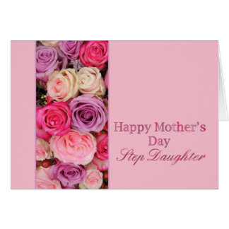 Step Daughter  Happy Mother's Day rose card