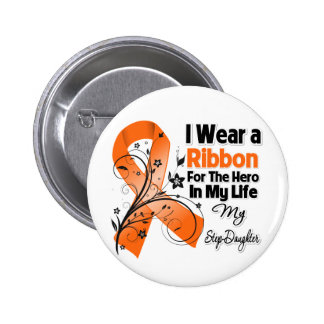 Step-Daughter Hero in My Life Leukemia 2 Inch Round Button