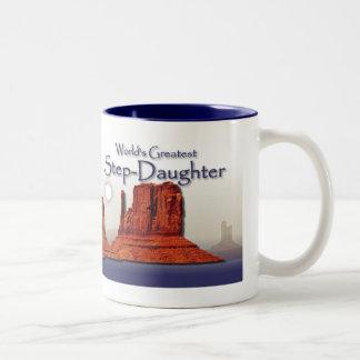 Step-Daughter's Loving Hands Blue Mug