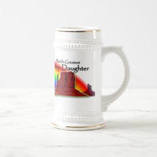 Step-Daughter's Loving Hands Rainbow Stein Coffee Mug