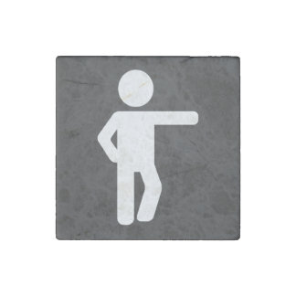 Step Exercises Pictogram Stone Magnet