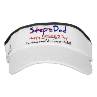 Step-Father = Dad, Father's Day visor 2 Headsweats Visors