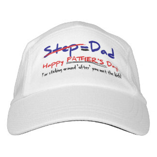 Step-Father = Dad, Father's Day Visor Cap