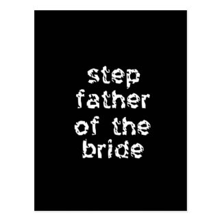 Step Father of the Bride Postcard