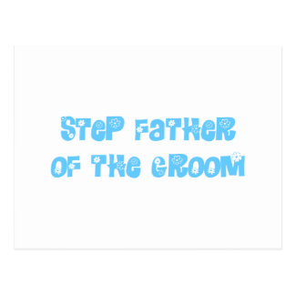 Step Father of the Groom Postcard
