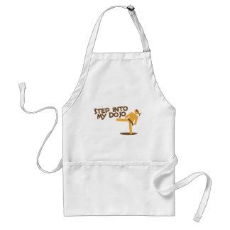 step into my dojo katate fighting design adult apron