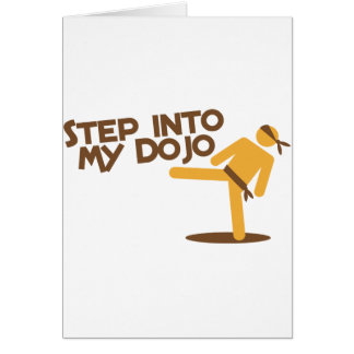 step into my dojo katate fighting design card