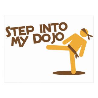 step into my dojo katate fighting design postcard
