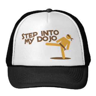 step into my dojo katate fighting design trucker hat