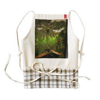 Step into the magical land zazzle HEART apron