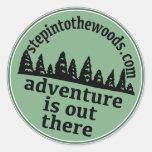 Step Into The Woods Sticker Round Sticker