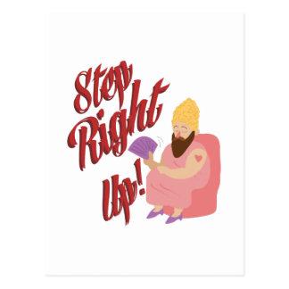 Step Lady Postcard