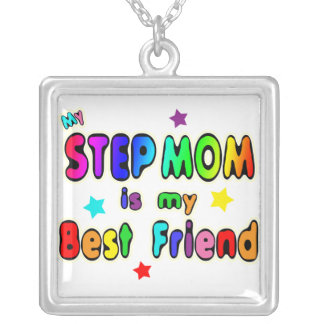 Step Mom Best Friend Silver Plated Necklace