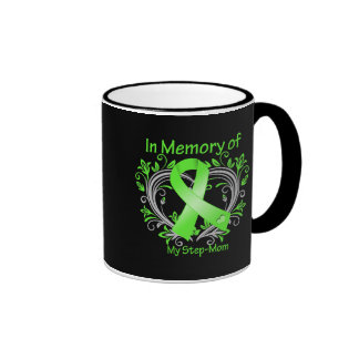 Step-Mom  - In Memory Lymphoma Heart Ringer Coffee Mug