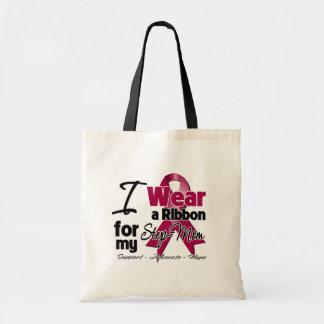 Step-Mom - Multiple Myeloma Ribbon Tote Bags