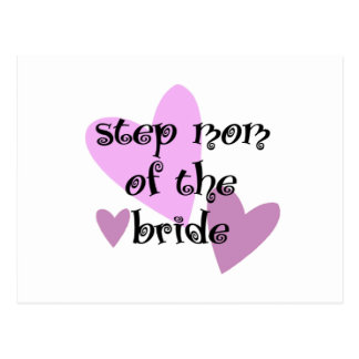 Step Mom of the Bride Postcard