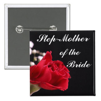 Step Mother Of The Bride 2 Inch Square Button
