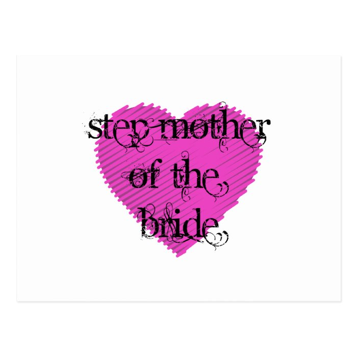 Step Mother of the Bride Postcard