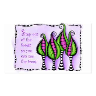 Step Out Of The Forest Business Card