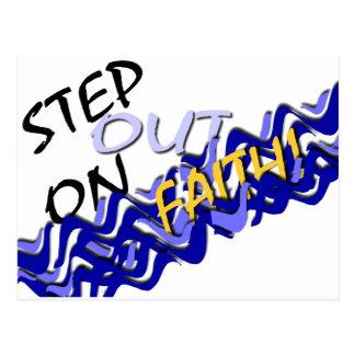 Step Out On Faith Postcard
