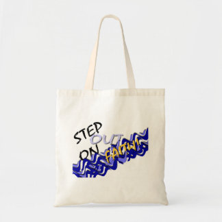 step out on faith tote bag