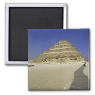 Step pyramid at Saqqara, one of the earliest 2 Inch Square Magnet