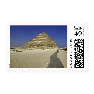 Step pyramid at Saqqara, one of the earliest Postage