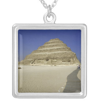 Step pyramid at Saqqara, one of the earliest Silver Plated Necklace
