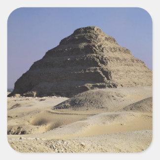 Step pyramid of King Djoser  Old Kingdom Square Sticker