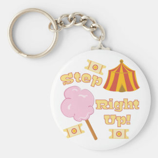 Step Right Up Basic Round Button Keychain