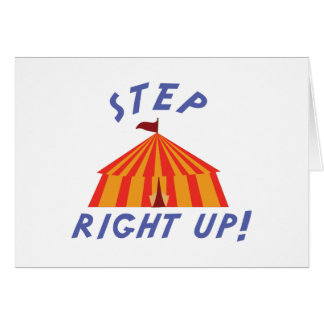 Step Right Up Card